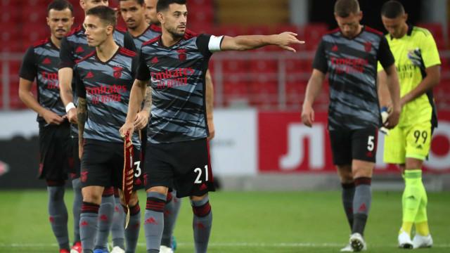 As imagens que não viu na TV do jogo entre Spartak e Benfica