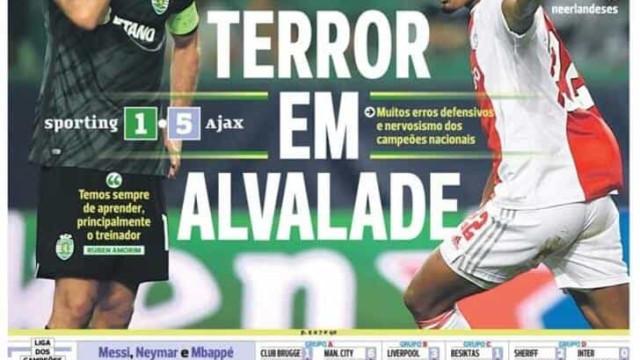 """Por cá: Sporting """"atropelado"""" numa noite polémica para o FC Porto"""