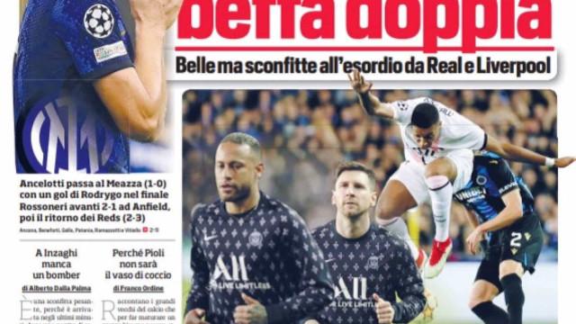 """Lá fora: PSG """"fantasmagórico"""" e italianos vivem noite para esquecer"""