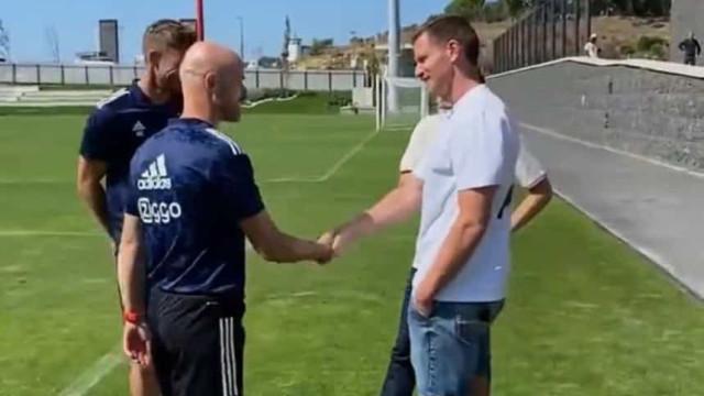 Ajax treinou na Cidade do Futebol e teve direito a visita especial