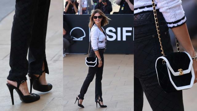 Elegância intemporal. Penélope Cruz com look Chanel em San Sebastián