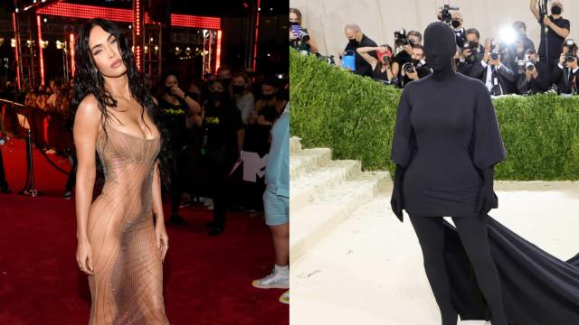 Look da Semana: Transparência de Megan Fox ou preto total de Kim?