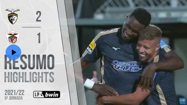 Grandes golos no Portimonense-Santa Clara. Veja o resumo