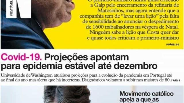 Hoje é notícia: Lição de Costa; Portugueses gastam 1.600 milhões lá fora