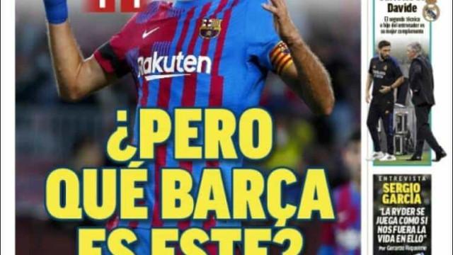 """Lá fora: """"Mas que Barça é este?"""""""