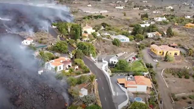 Vídeo: Drone capta destruição à passagem da lava em La Palma