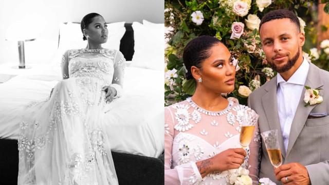 Ayesha e Stephen Curry renovam votos de casamento. As imagens