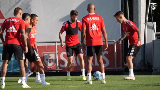 As imagens do mais recente treino do Benfica