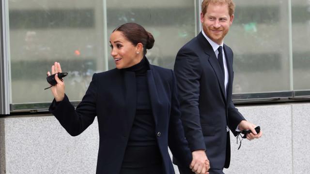 Príncipe Harry e Meghan Markle fazem primeira aparição em Nova Iorque