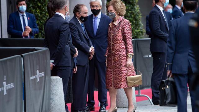 Rainha Sofía substitui Felipe VI e Letizia em evento cultural