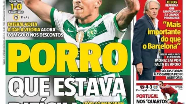 """Por cá: Sporting e FC Porto vencem no """"último fôlego"""""""