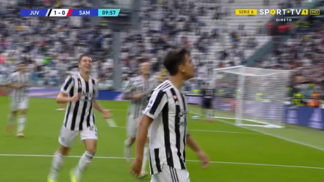 Dybala encheu o pé e desfez o nulo no Juventus-Sampdoria aos 10 minutos