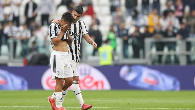 Dybala marcou, lesionou-se e deixou o campo lavado em lágrimas