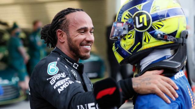 As melhores imagens da festa de Hamilton na vitória 100 na F1