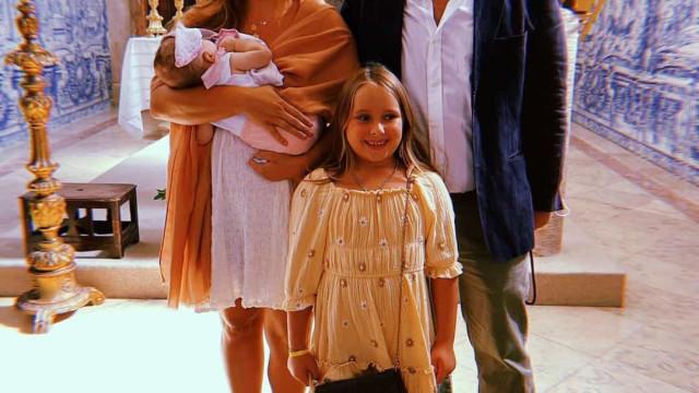 Joana Machado e Eduardo Madeira batizam filha mais nova