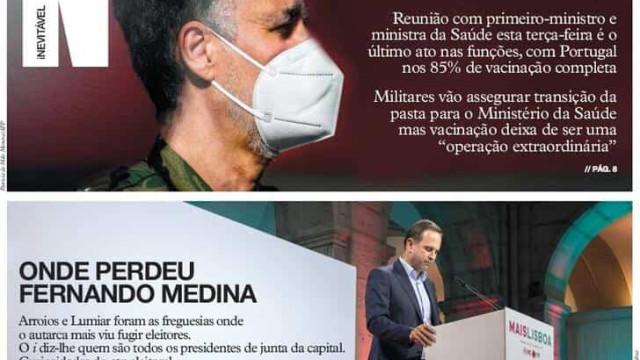 Hoje é notícia: Gouveia e Melo despede-se; Lisboetas fartos de Medina
