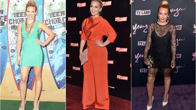 A evolução do estilo de Hilary Duff ao longo dos últimos 10 anos