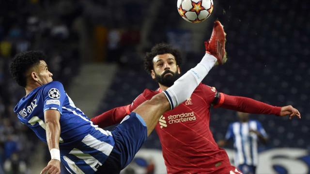 [0-3] FC Porto-Liverpool: Salah marca mais um no Dragão