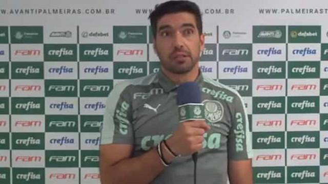 Palmeiras volta a marcar passo e Abel deixa recado... aos jornalistas