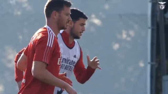 O mais recente treino do Benfica que contou com muitas novidades