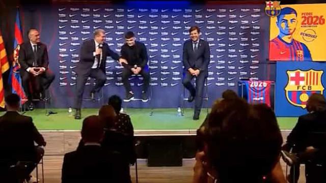 Presidente do Barcelona 'descuida-se' e chama Pedri... de Messi