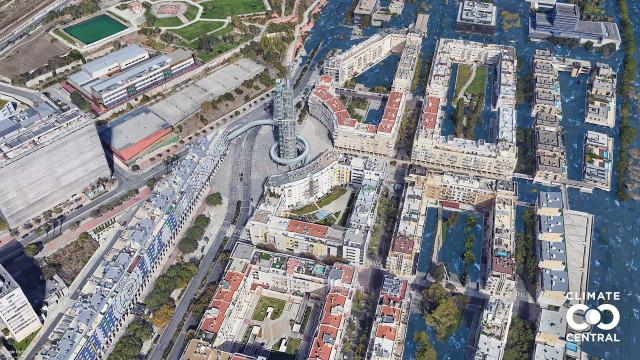 Mapas mostram como vão ficar cidades (incluindo Lisboa) com subida do mar