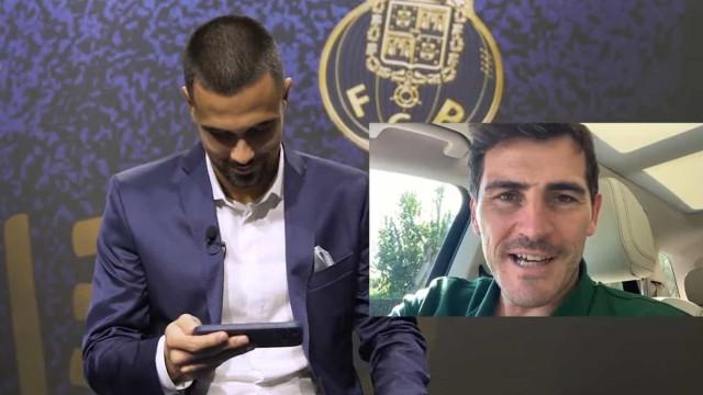 """A mensagem de Casillas para Diogo Costa: """"Mereces o melhor"""""""