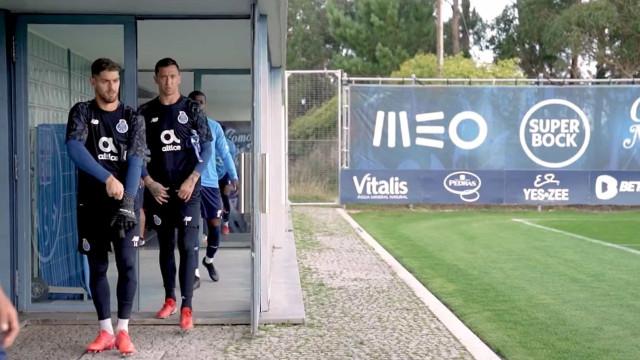 As imagens do último treino do FC Porto antes da receção ao Milan