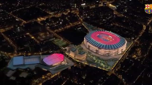 Barcelona apresenta projeto de remodelação do Camp Nou