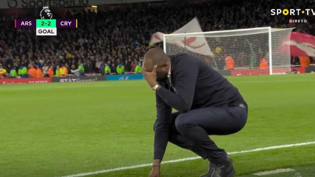 O golo no último suspiro que impediu a 'traição' de Vieira ao Arsenal
