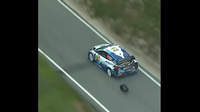 WRC: Pneu furou-se e Greensmith teve de controlar assim o carro