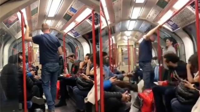 Homem tenta atacar jovem asiática no metro e é agredido por passageiros