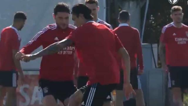 As imagens do último treino do Benfica antes da receção ao Bayern