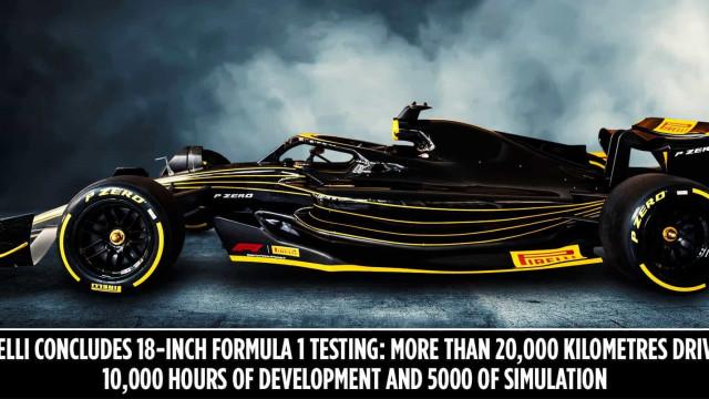 F1: Testes da Pirelli com pneus de 18' duraram mais de 10 mil horas