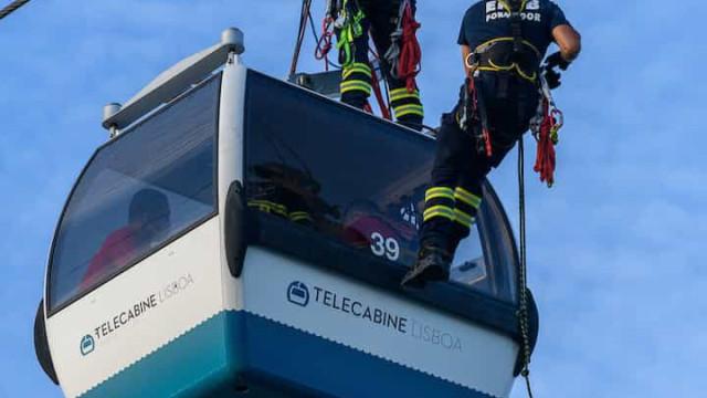 Teleférico do Parque das Nações foi 'palco' de exercício de salvamento