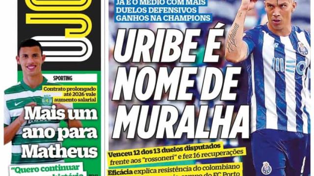 Por cá: Leão segura Matheus e Uribe é nome de muralha