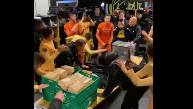 A festa do Bodo/Glimt após a goleada aplicada à Roma de Mourinho