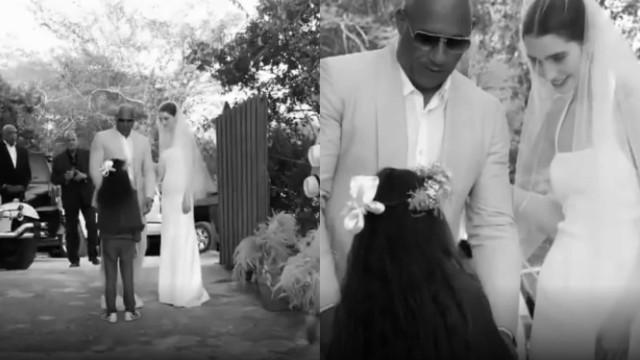 Vídeo. Vin Diesel leva a filha de Paul Walker ao altar