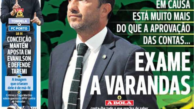 Por cá: FC Porto tenta Textor, exame a Varandas e alerta máximo em Vizela