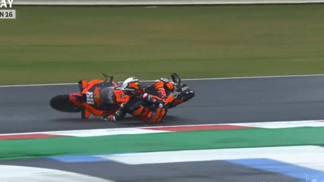 A queda de Miguel Oliveira nos treinos livres do GP de São Marino