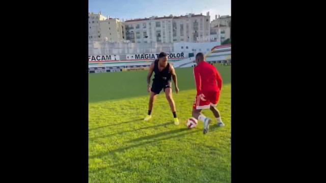 Rúben Semedo treina no José Gomes e mostra como tem mantido a forma