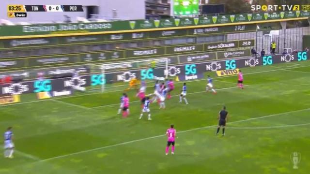 O golo do Tondela que deixou o FC Porto a perder logo aos quatro minutos