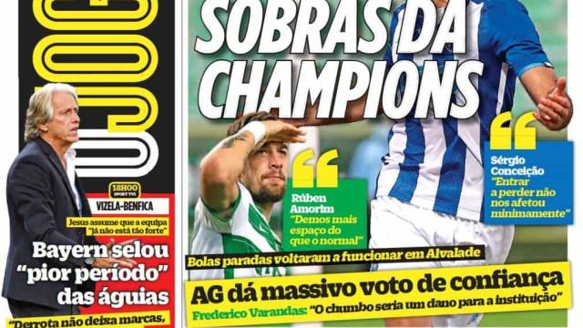 Por cá: Sobras da Champions, dia de heróis e virar a página em Vizela