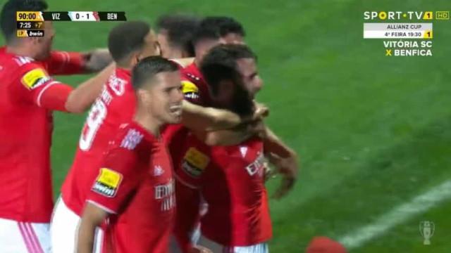 O golo de Rafa que valeu a vitória ao Benfica em Vizela ao cair do pano