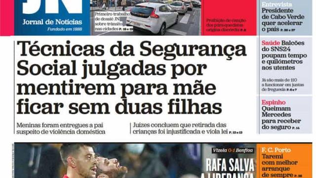 Hoje é notícia: Mentira da SS tira filhas à mãe; Ricciardi quer um banco