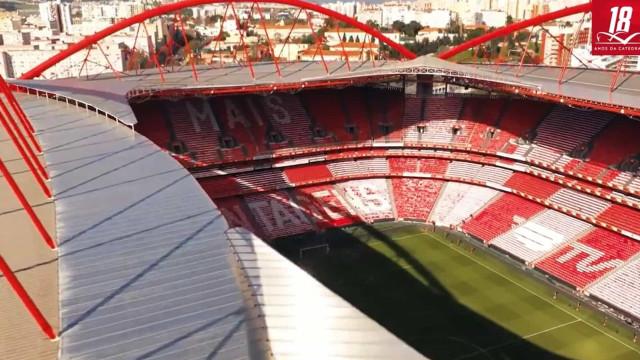 Benfica assinala a 'maioridade' do Estádio da Luz com este vídeo