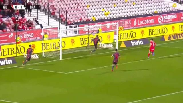 O incrível corte de Sequeira que evitou o empate no Gil Vicente-Sp. Braga