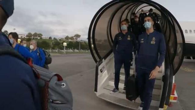 As imagens da chegada do FC Porto aos Açores