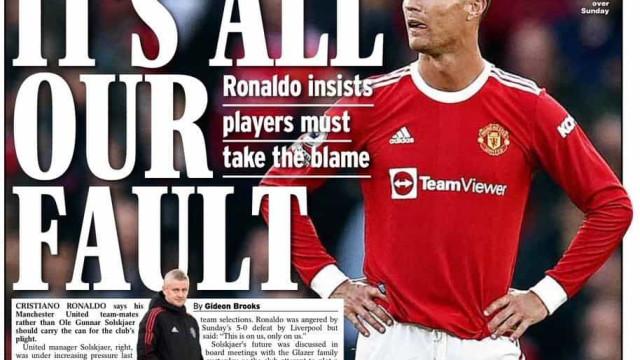 Lá fora: Real e sociedade ilimitada; Ronaldo sai em defesa de Solskjaer