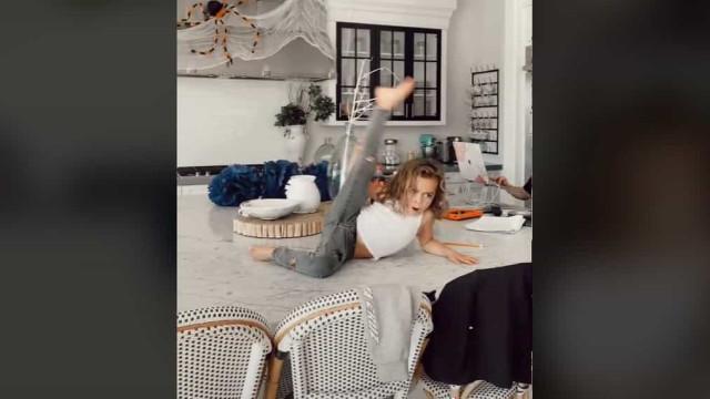 Dançarino de apenas seis anos faz de qualquer lugar o seu palco
